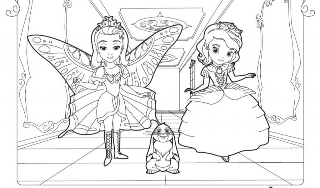 Раскраска Принцесса Эмбер и София 4