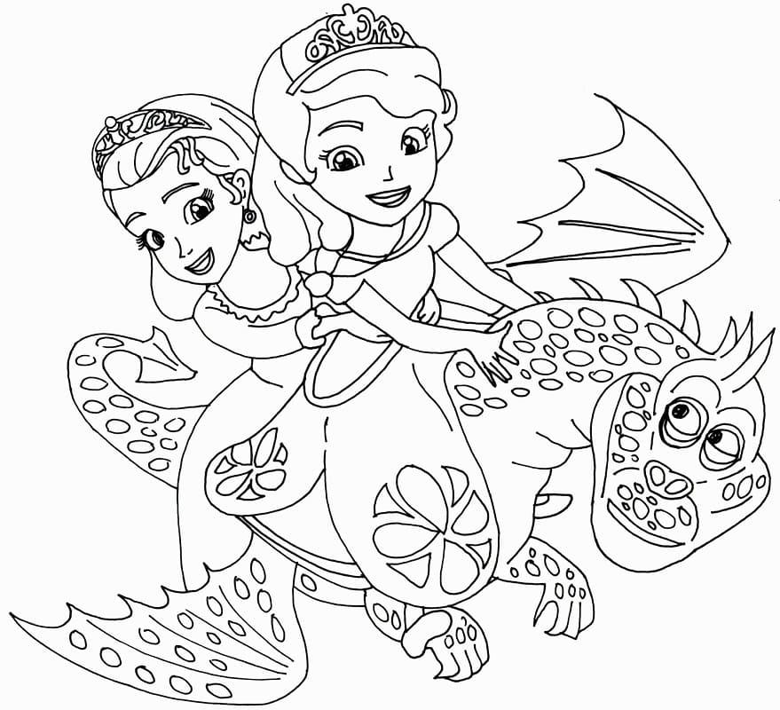 Раскраска Принцесса Эмбер и София