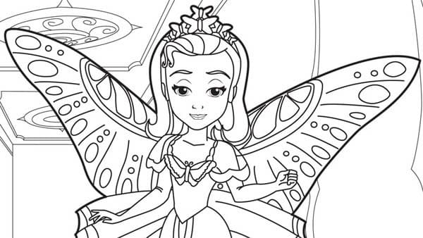 Раскраска Принцесса Эмбер хорошенькая 1
