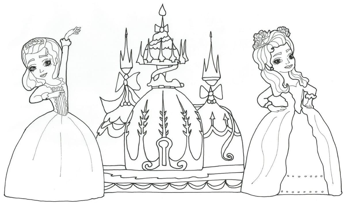 Раскраска Принцесса Эмбер хорошенькая 2