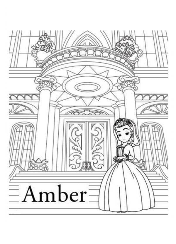 Раскраска Принцесса Эмбер хорошенькая