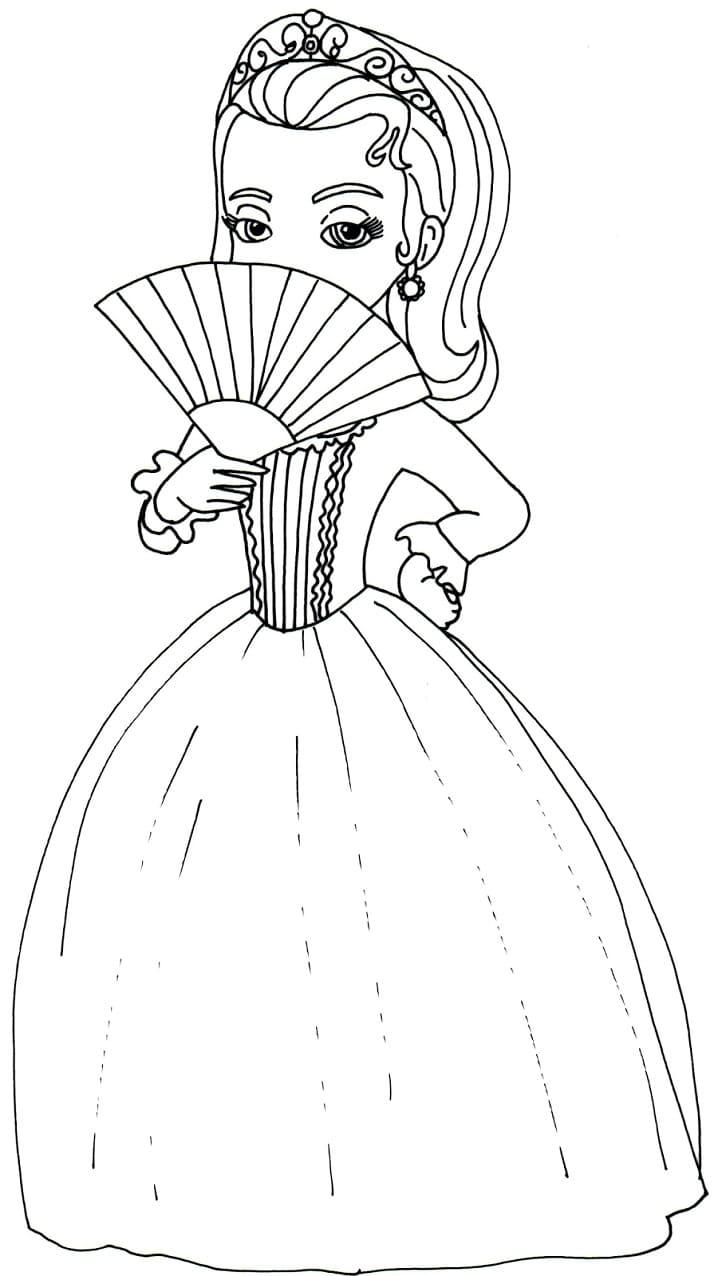 Раскраска Принцесса Эмбер милая 2