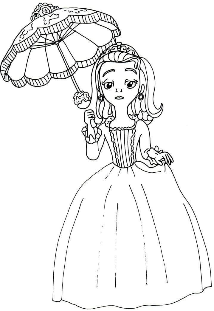 Раскраска Принцесса Эмбер милая 3