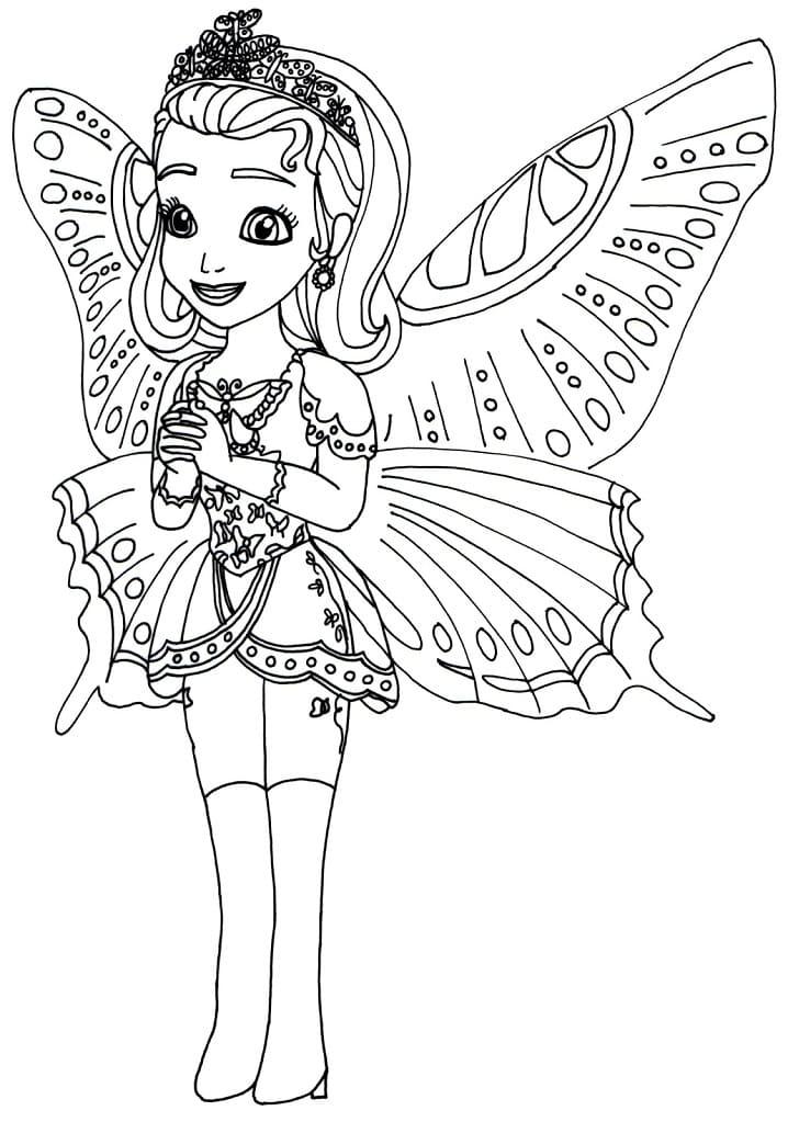 Раскраска Принцесса Эмбер милая