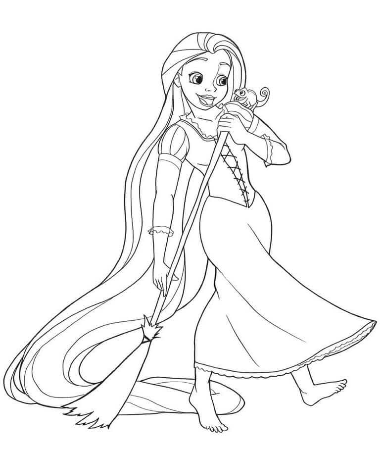 Раскраска принцесса рапунцель 2