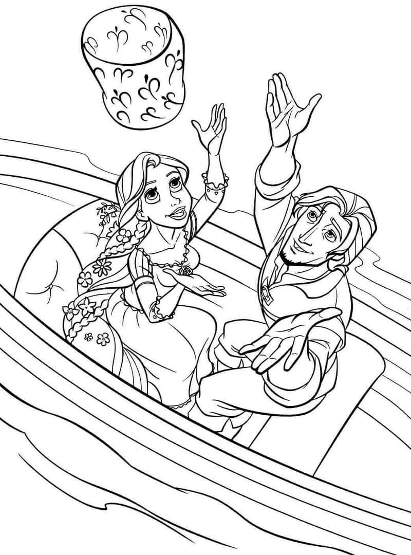 Раскраска принцесса рапунцель 4