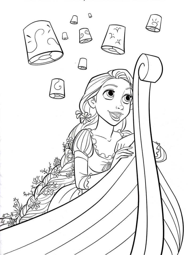 Раскраска принцесса рапунцель 5