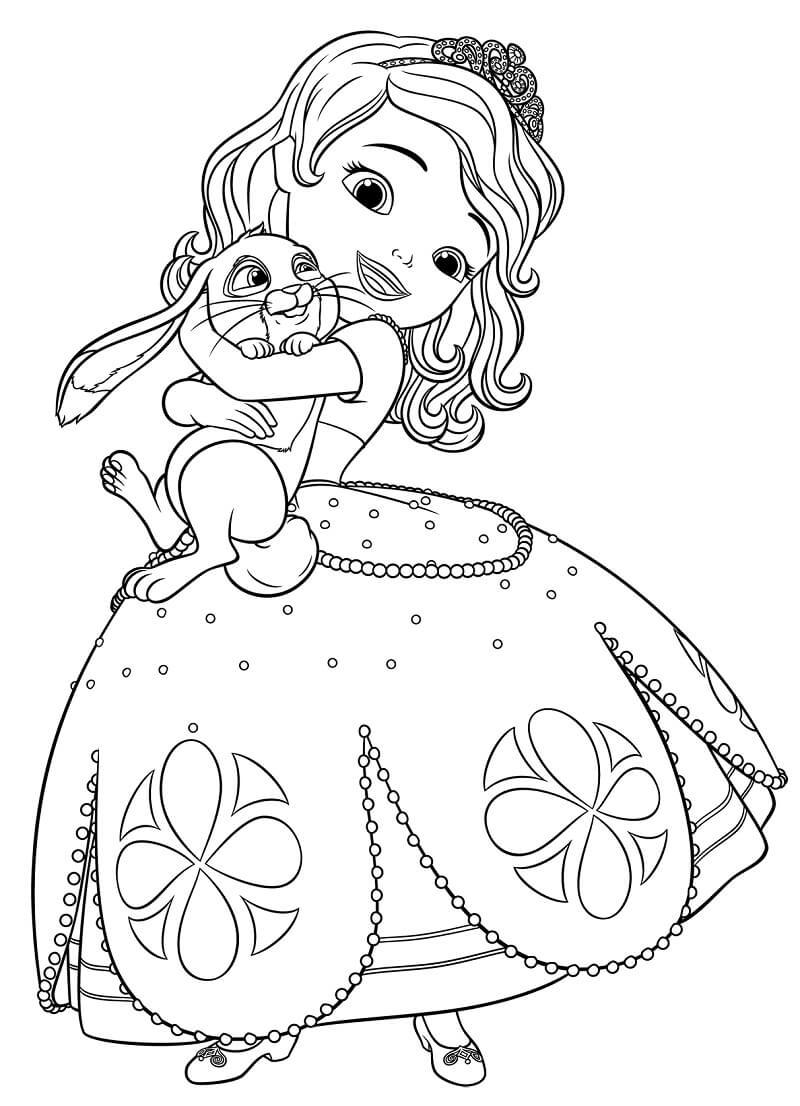 Раскраска принцесса софия 2