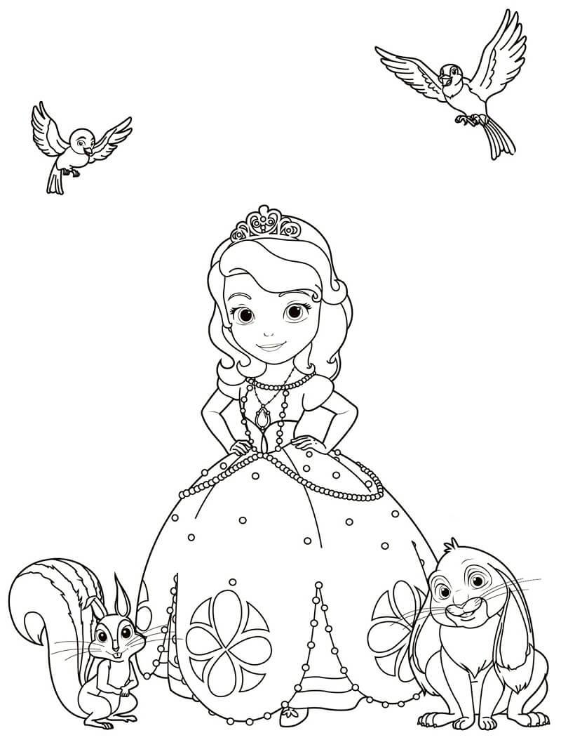 Раскраска принцесса софия 3