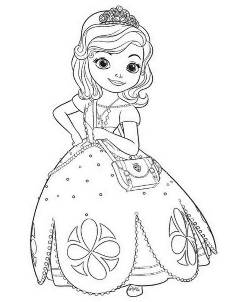 Раскраска принцесса софия 4