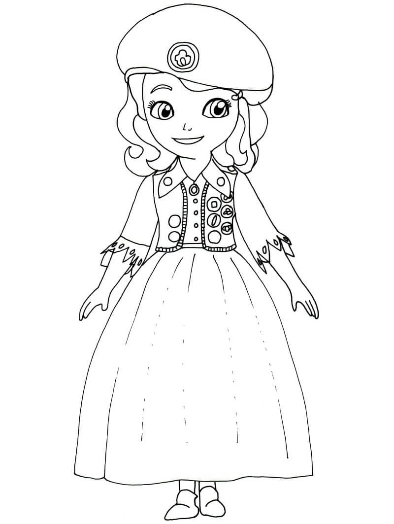 Раскраска принцесса софия 6