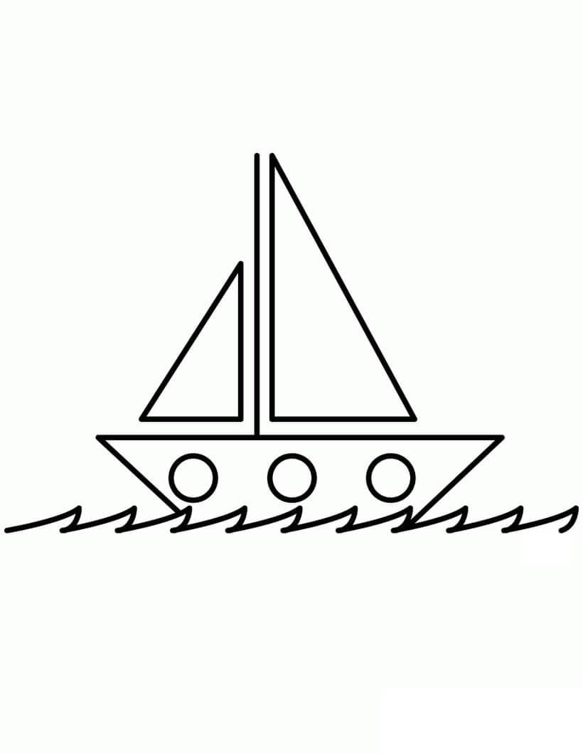 Раскраска простая лодка 1