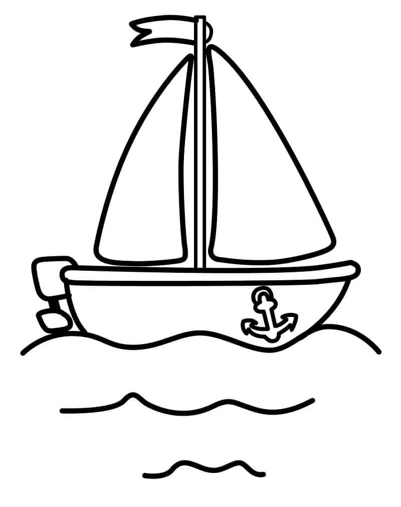 Раскраска простая лодка
