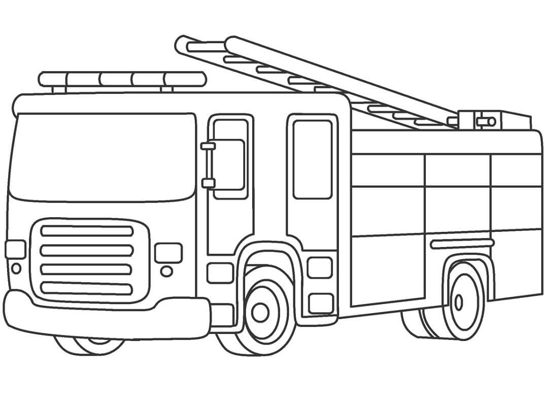 Раскраска Раскраски пожарная машина