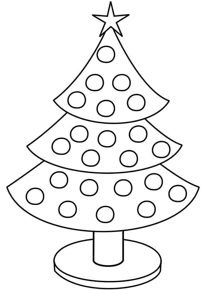 Раскраска Простая елка 2