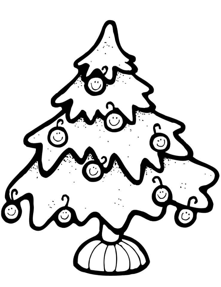 Раскраска Простая елка 3