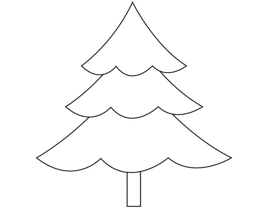 Раскраска Простая елка 4
