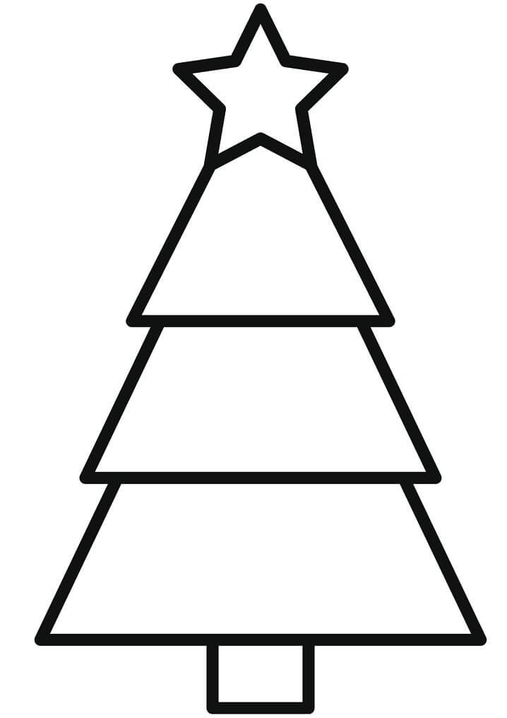 Раскраска Простая елка