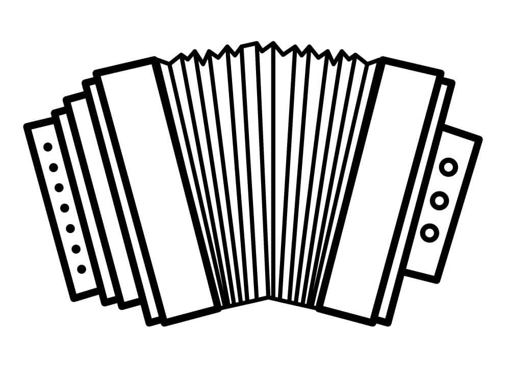 Раскраска простой аккордеон 3