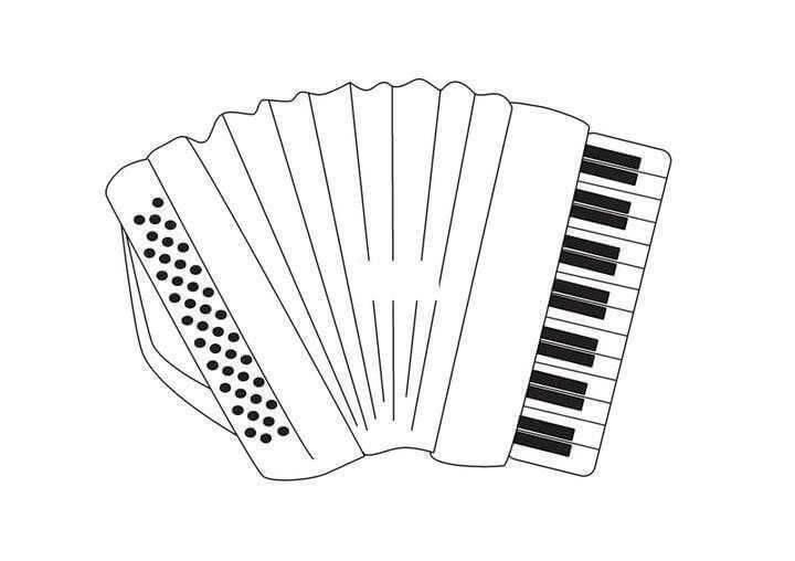 Раскраска простой аккордеон 4
