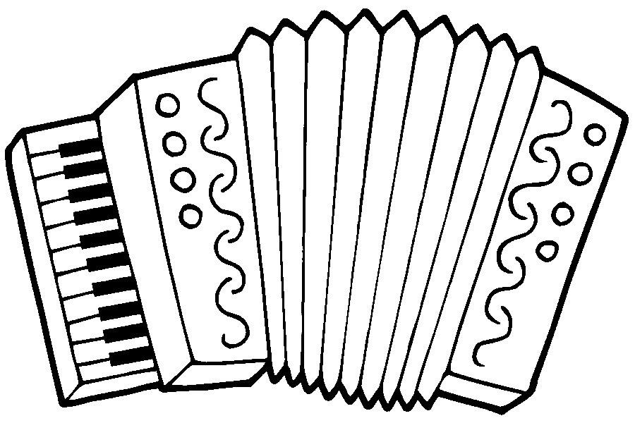 Раскраска простой аккордеон 5