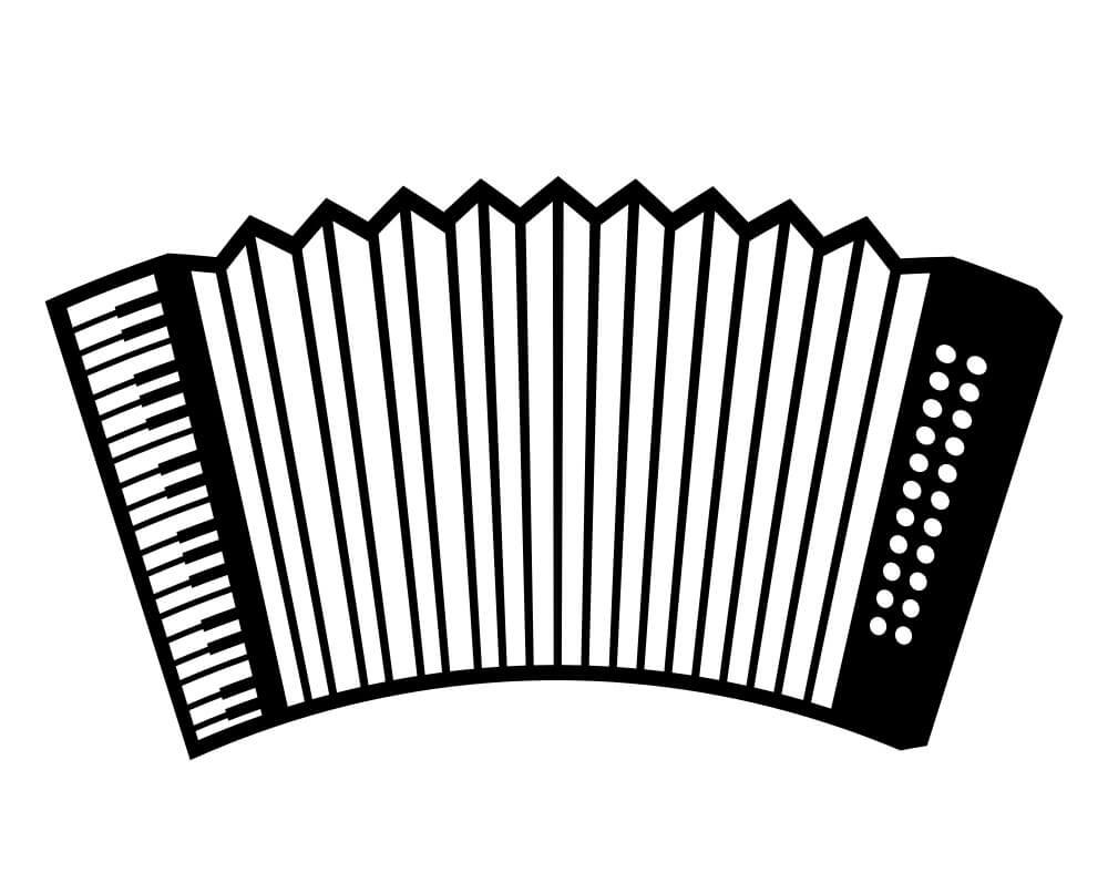 Раскраска простой аккордеон 6