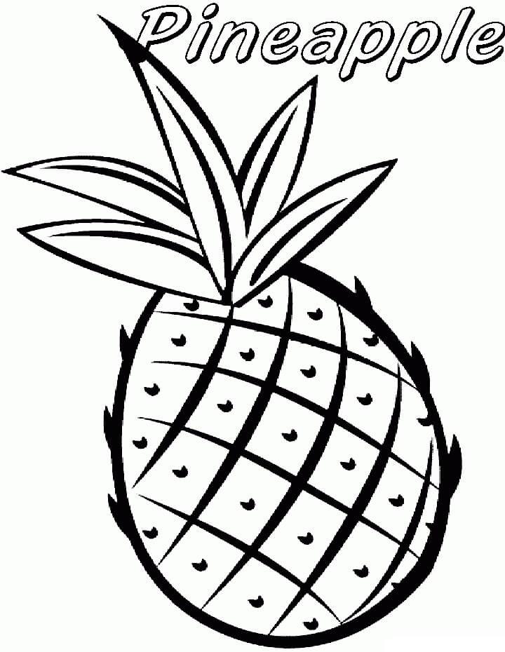 Раскраска простой ананас 3