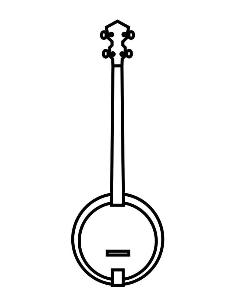 Раскраска простой банджо