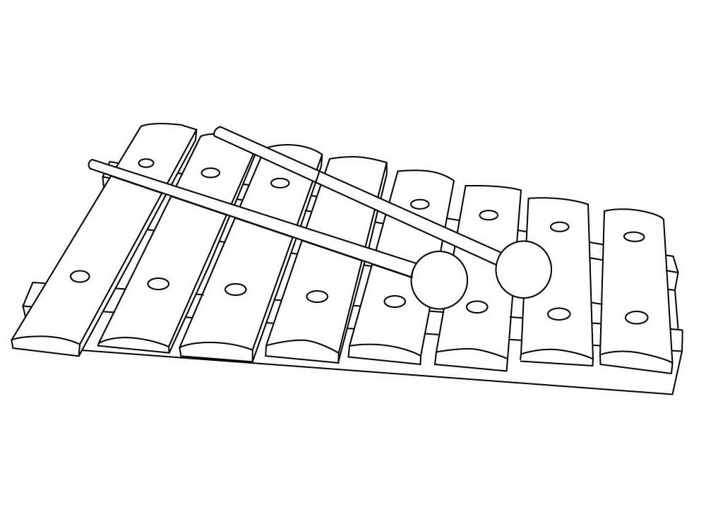 Раскраска raskraska prostoy ksilofon 3