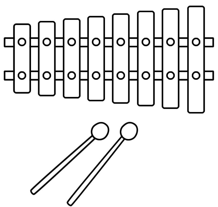 Раскраска raskraska prostoy ksilofon 4