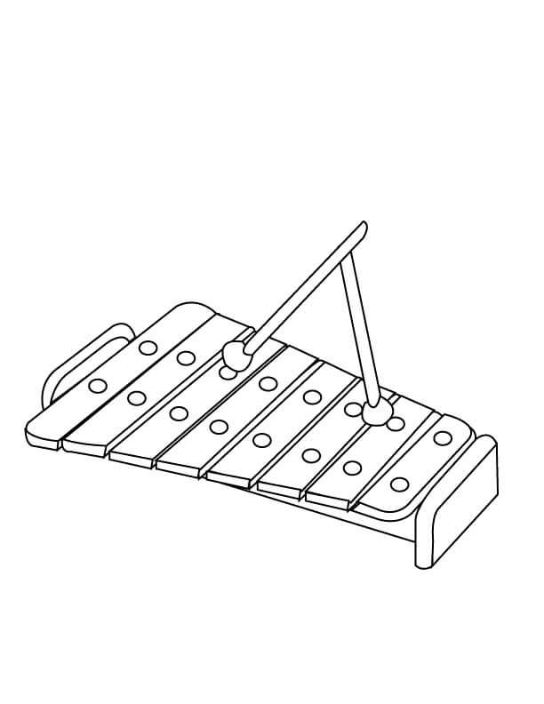 Раскраска raskraska prostoy ksilofon 5
