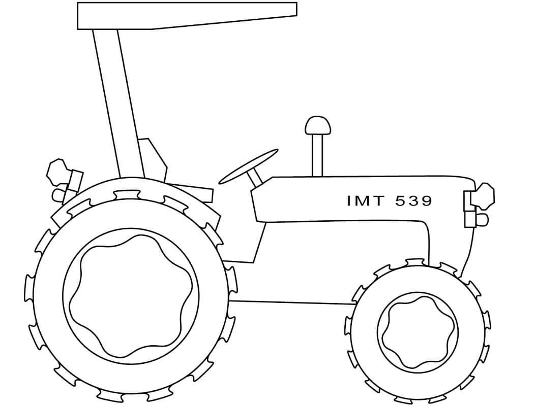 Раскраска простой трактор 1