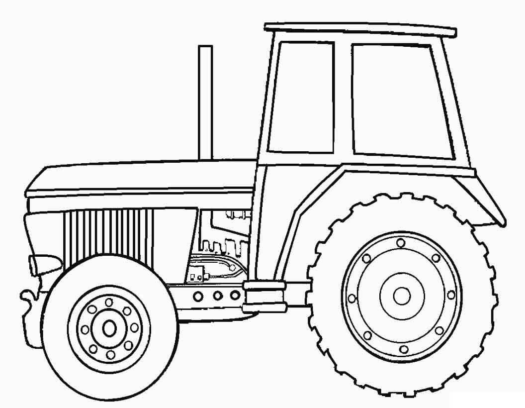 Раскраска Раскраски трактор