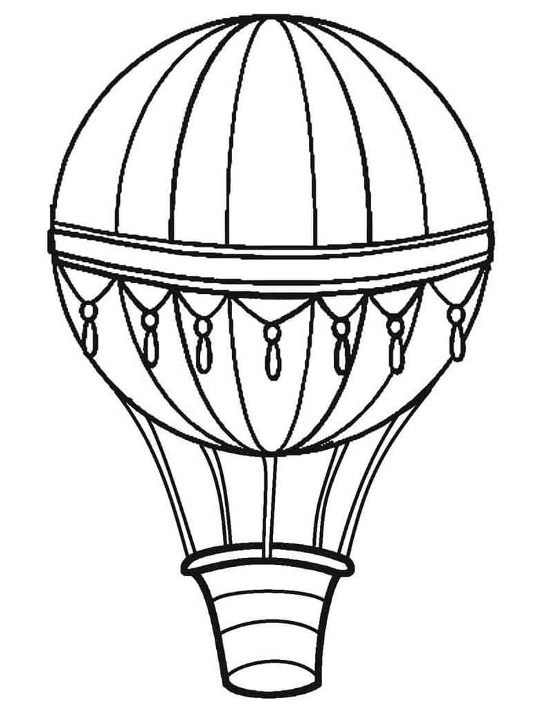 Раскраска простой воздушный шар 1