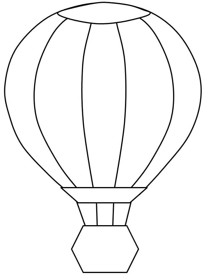Раскраска простой воздушный шар 2