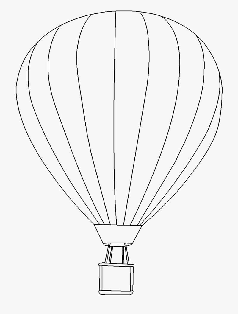 Раскраска простой воздушный шар 3