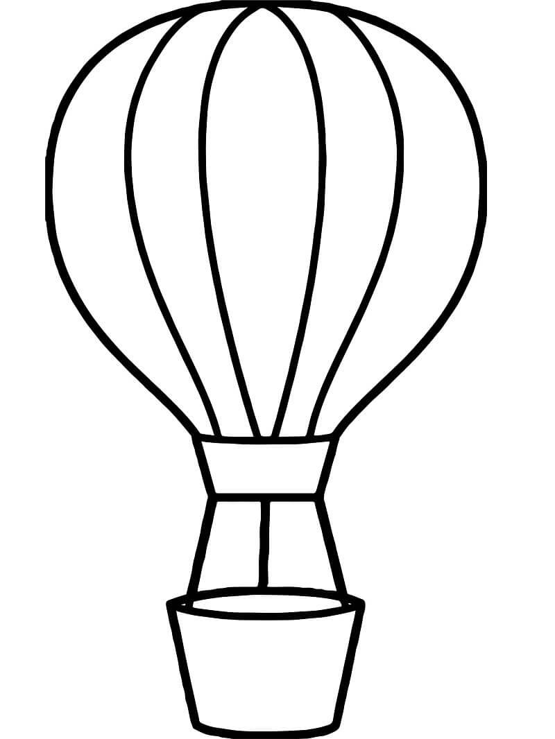 Раскраска простой воздушный шар 4