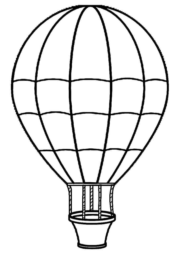 Раскраска простой воздушный шар 5