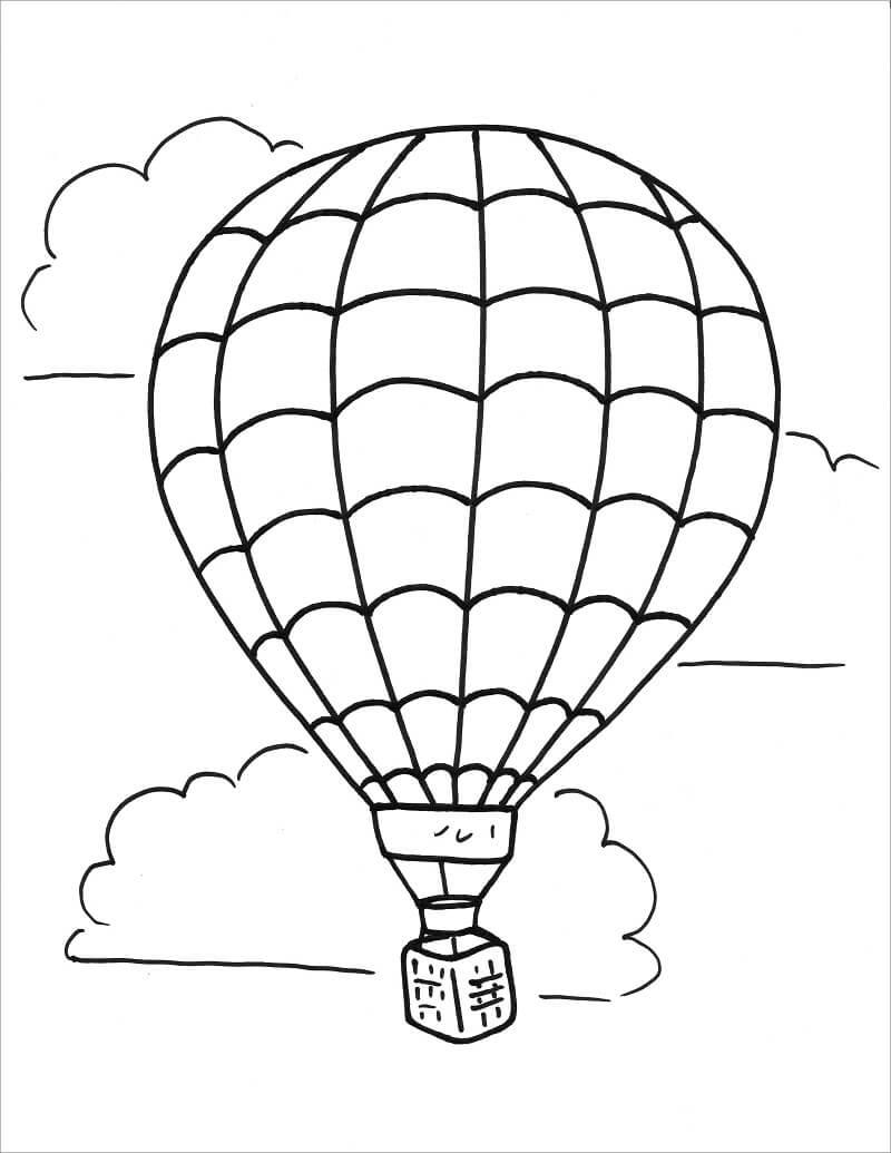 Раскраска простой воздушный шар 6