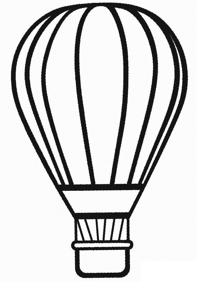 Раскраска простой воздушный шар