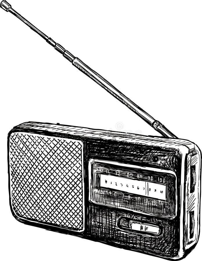 Раскраска Радио 1