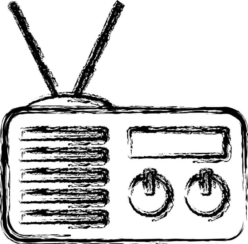 Раскраска Радио 10