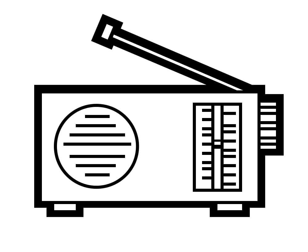 Раскраска Радио 11