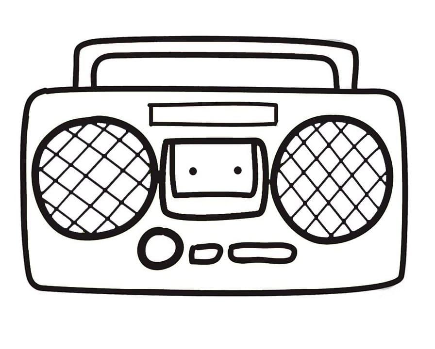 Раскраска Радио 13