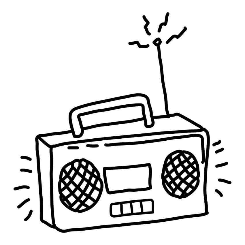 Раскраска Радио 2
