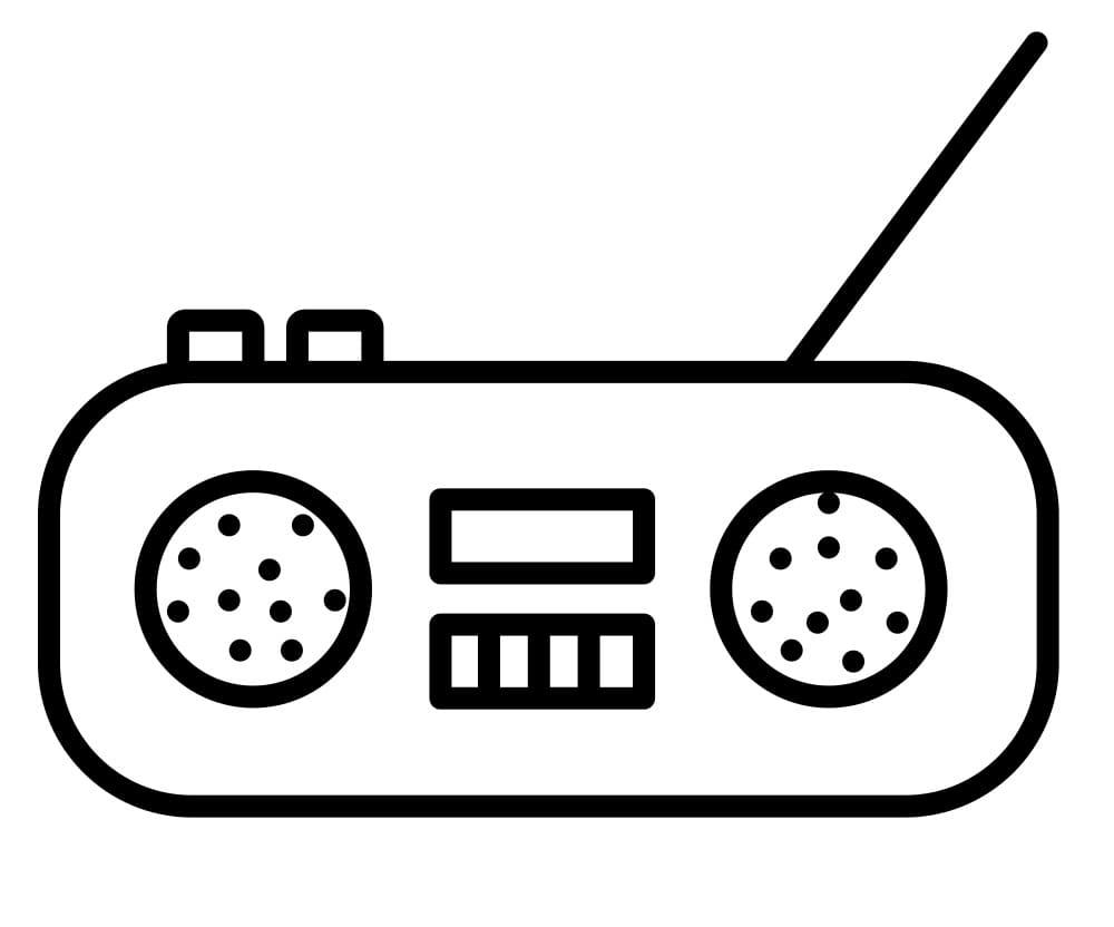 Раскраска Радио 3