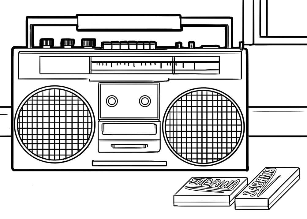 Раскраска Радио 4