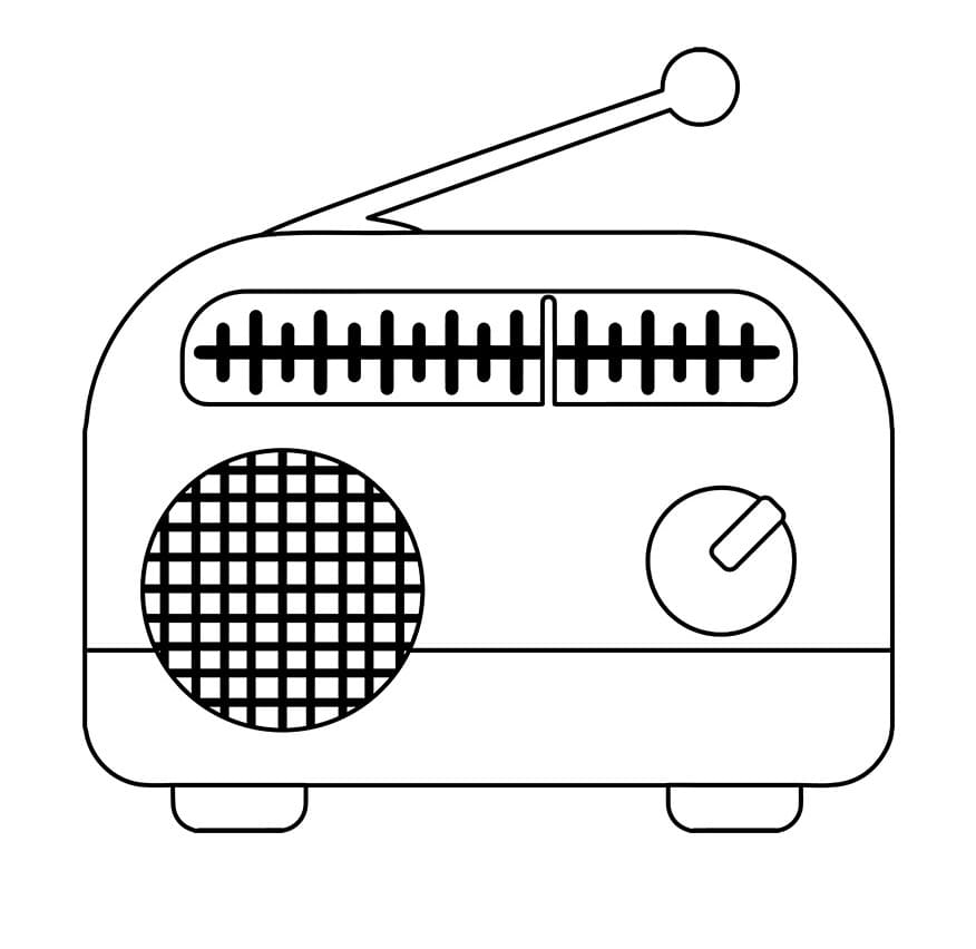 Раскраска Радио 6