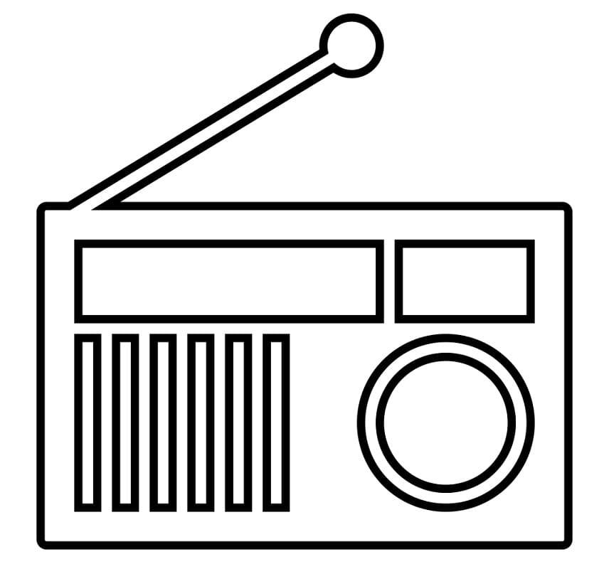 Раскраска Радио 7