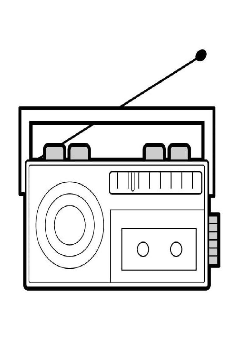 Раскраски Радио